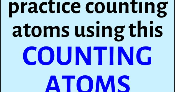how to find the number of atoms in a molecule