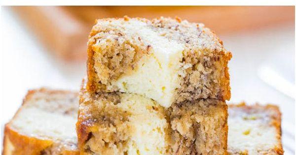 Delicious Cream Cheese Filled Banana Bread Easy Recipe - bread banana recipes