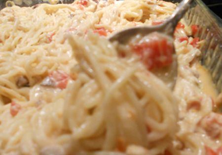 Chicken Spaghetti You need only seven ingredients: angel hair pasta, chicken (grilled