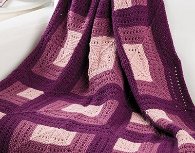 Free Knit Pattern Download -- This Shadowbox Afghan, designed by Sandi Rosner...