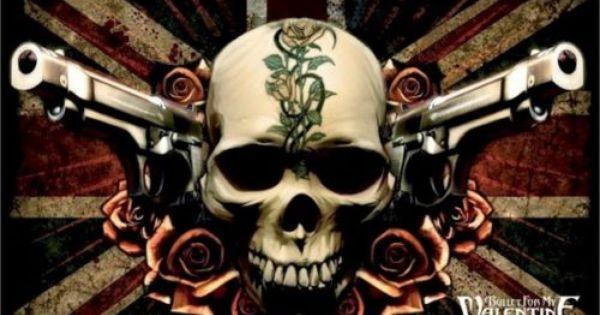 Bullet For My Valentine Poster Skull Guns 24x36 Music Logo