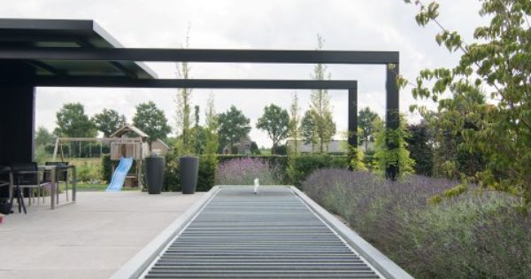 Modernetuin strakketuin exclusievetuin tuin vijver strakkevijver - Eigentijds trap beton ...