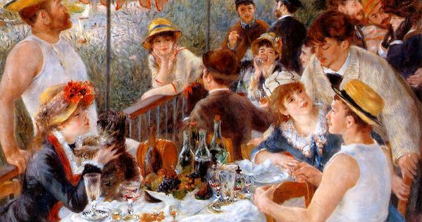 Pierre Auguste Renoir, Luncheon of the Boating Party, 1880-81. Hudson Awning &