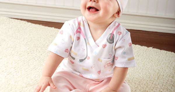 Newborn Baby Nurse Outfit Sleeper Unique Clothing