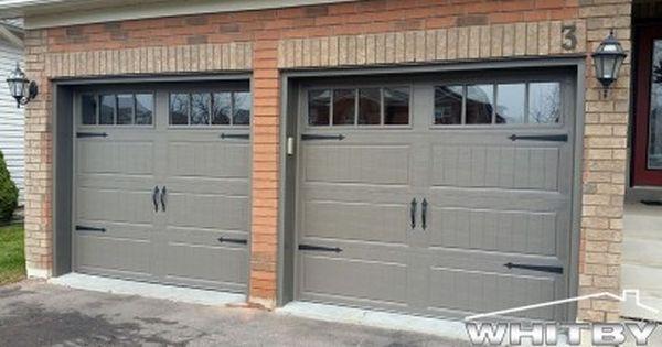 Clopay Coachman Design 12 With Rec13 Windows Garage Door Craftsman 16 X 7 Steel With Wood Look Garage Doors Double Garage Door Garage Door Styles