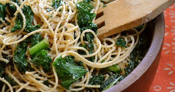 Garlic Parmesan Kale Pasta | Recipe | Kale Pasta, Kale and Parmesan