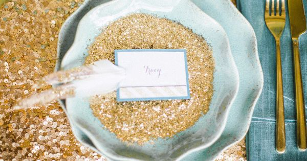 Glitter wedding inspiration wedding mint inspiration