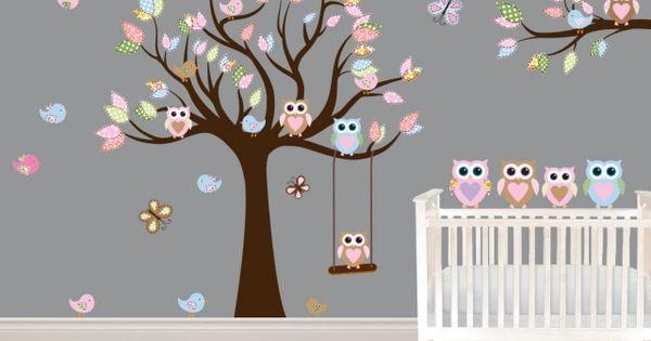 Décoration chambre bébé - 31 idées originales thème hibou  Bebe ...