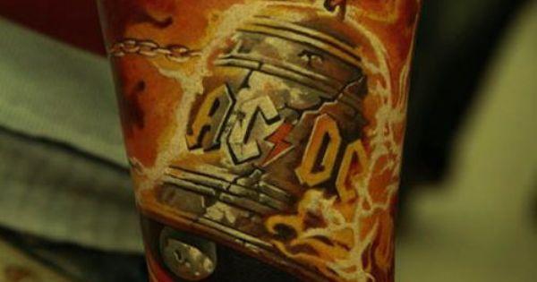 Tatuagem da Banda ACDC ~ Hells Bells   Tattoo   Pinterest ...