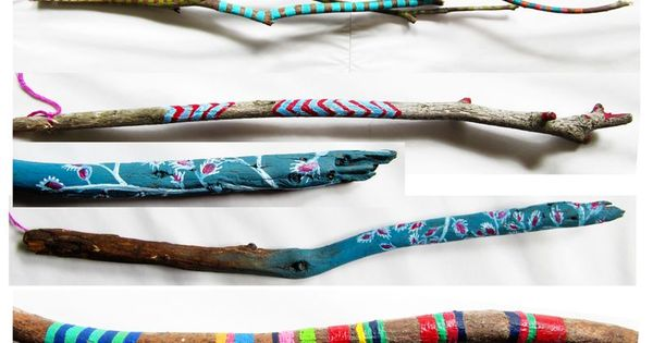 Painted sticks by Molly Anne. Fun nature hunt/craft project for kids.