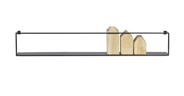Voorbeeld van Meert metalen wandplank zwart, 100 cm WOOOD - WISHLIST ...