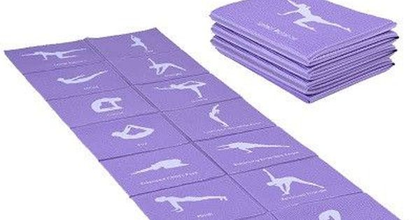 Foldable Yoga Mat For Beginners Anti Slip Portable Sport Mat Fitness Mat Folding Yoga Fitness Workout Health Foldable Yoga Mat Yoga Towel Travel Yoga Mat