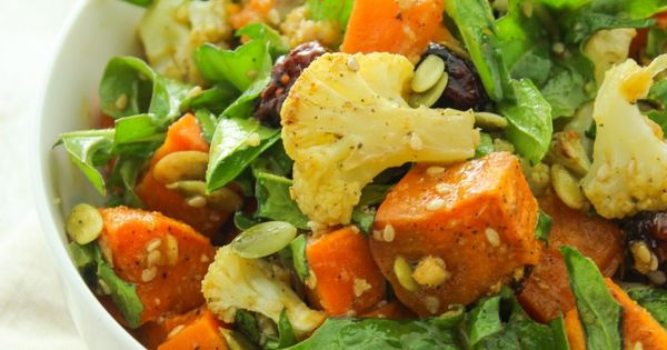 Roasted Sweet Potato Salad with Ginger Miso Dressing | DIET FOODS ...