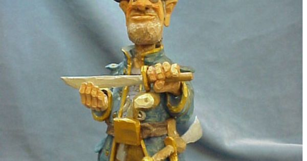 Pirate designed by cleve taylor woodcarvings pinterest
