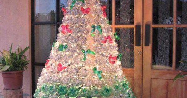 Christmas Tree Made Out Of Recycled Pop Bottles!