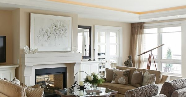 Waterfront condo design a timeless chef d 39 oeuvre living for Condo living room ideas pinterest