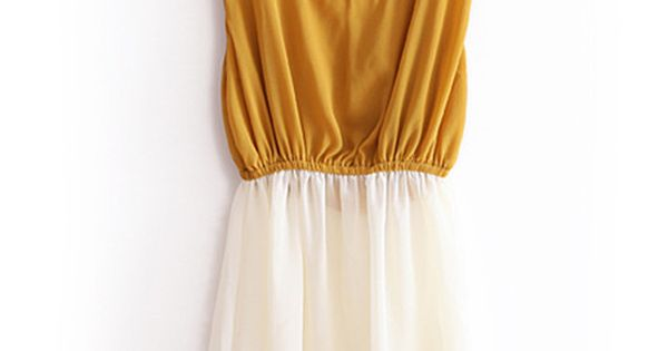 Yellow Stripe Color Block Dress