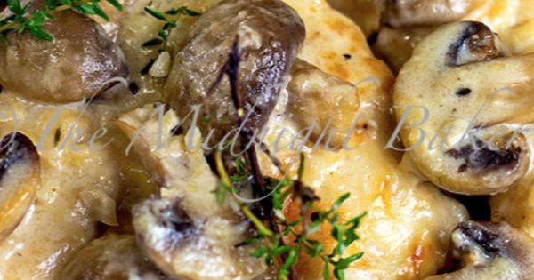 Mushroom Asiago Chicken (omit flour to low carb - could use cream