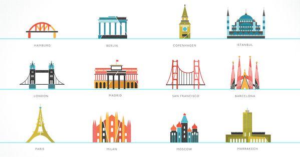 international city icons