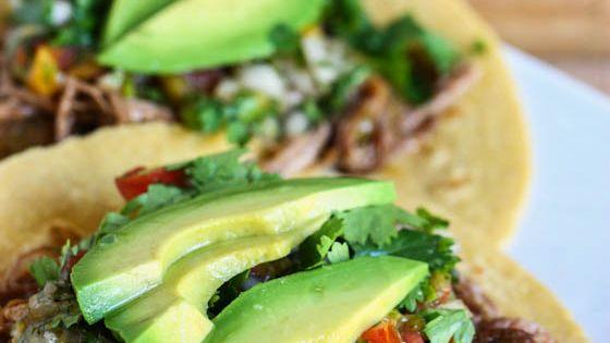 Crockpot Beef Carnitas Tacos Crock Pot Beef Carnitas Tacos serves 6-8 Print