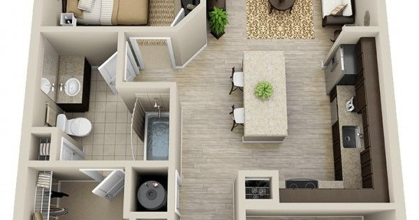 A one bedroom apartment fit for an executive, this one bedroom and