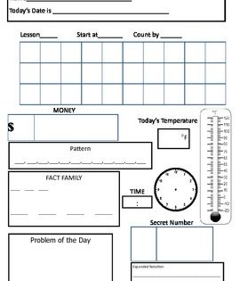 2nd Grade Saxon Math Morning Meeting Calendar Student Paper Saxon Math Math Meeting Calendar Math