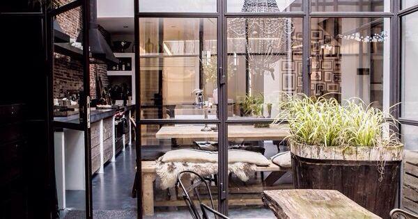 ... baies vitrées, intérieur lumineux & design industriel  Home Idées