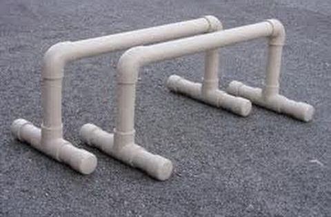 how to make your own parallettes out of pvc pipe video
