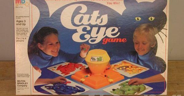 Original 80 S Milton Bradley Cat S Eye Marble Game