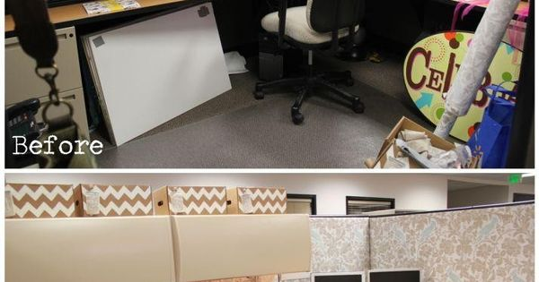$50 Studio 5 Cubicle Makeover | Burlap Denim