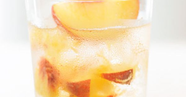 Peaches, Tom collins and Cocktail recipes on Pinterest