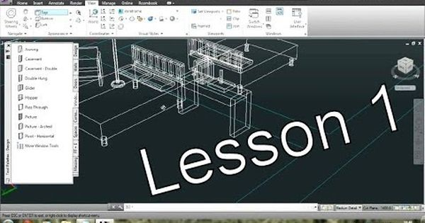 Autocad Architecture Tutorial For Beginners 1 Youtube With
