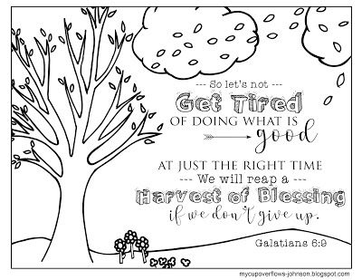 A Harvest Of Blessings Bible Verse Coloring Page Sunday School