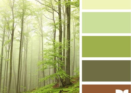 Living room: forest tones [a little darker brown coloring, and lighter khaki