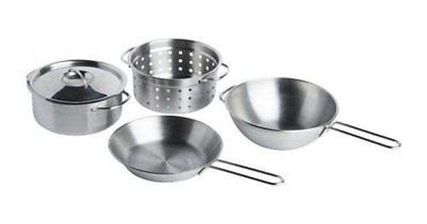 Ikea Duktig Children S Cookware Set Pots And Pans Stainless