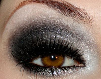 Bows and Curtseys...Mad About Makeup: Silver Lining: Love this look. Now, how