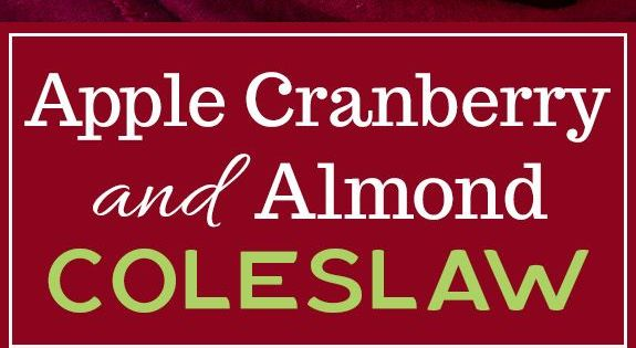 Apple Cranberry and Almond Coleslaw | Recipe | Cabbages, Its always ...