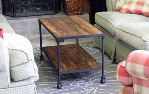 DIY INDUSTRIAL style coffee table