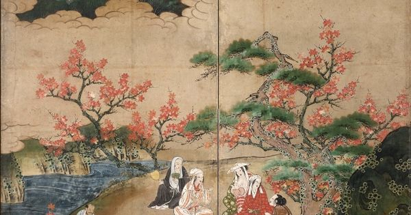The maple viewers detail by kano hideyori active 1565 for Art 1576 cc