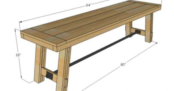 diy bench dining room table bench pinterest outdoor benches backyards and farmhouse bench. Black Bedroom Furniture Sets. Home Design Ideas