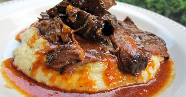 Crockpot BBQ Pot Roast over Cheddar Ranch Grits | Plain Chicken