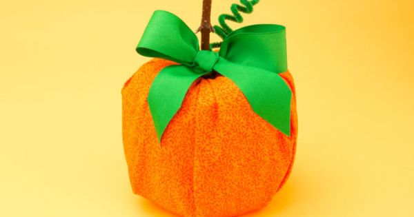 Your kids can easily make this perfect pumpkin using for Get paid to make crafts