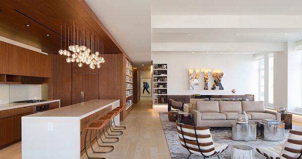 kueche-wohnbereich-offen-holztoene-grau-braun Wohnideen - wohnzimmer braun grau