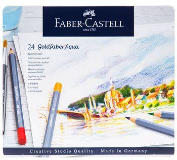 Faber Castell Goldfaber Aqua Watercolor Pencils 24 Piece Set