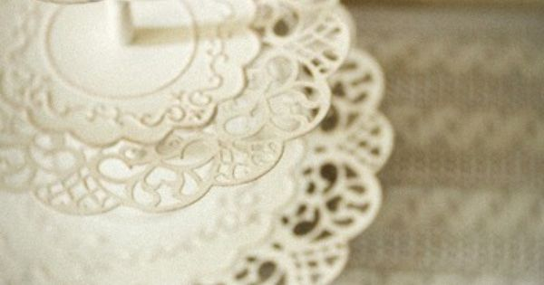 vintage lace doily-inspired cake stand