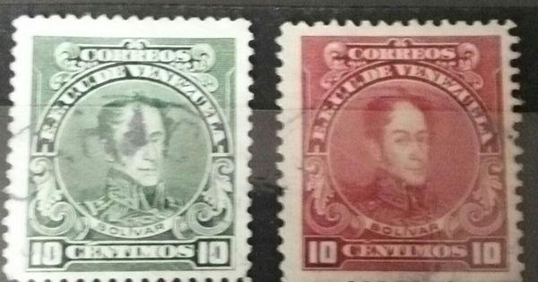 Rare 10 Centimos Bolivar Correos Venezuela 1920 Mint Stamp