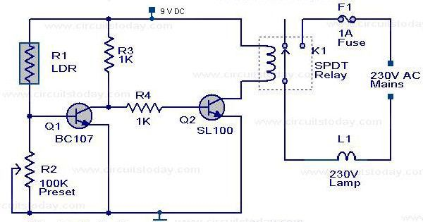 The Circuit Diagram Of An Automatic Street Light Controller Circuit Is Explained In This Post Street Light Circuit Diagram Circuit