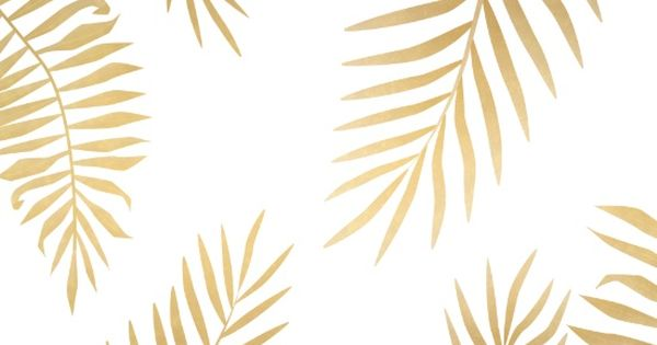 Gold Palm Leaves Canvas Print Achtergronden