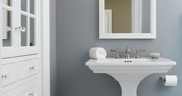 (my powder room sink) Home Decor : ...loving the wall color! {