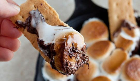 Indoor S'mores recipe winterfavorites Ingredients 1 cup chocolate chips 8 large marshmallows